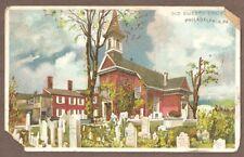 Vintage Postcard Used Old Swedes Church, Philadelphia Pennsylvania