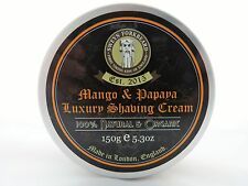 Shaving Cream Mango & Papaya 100% Natural & Organic Handmade in London