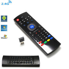 MX3 Double-Face Remote Control Wireless Keyboard Air Mouse f. HTPC PC TV Box etc