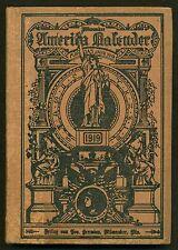 Milwaukee America Kalendar 1919 HB German culture Wisconsin   W2