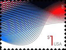 2015 $1 Patriotic Wave, Billowing Flags Scott 4953 Mint F/VF NH