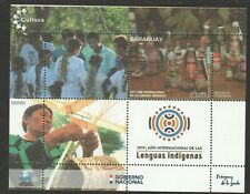 PARAGUAY 2019 INT'L YEAR OF INDIGENOUS LANGUAGE SOUVENIR SHEET OF 1 STAMP MINT