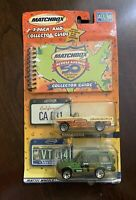 Matchbox Across America 50th Birthday Series 2-Pack and Collector Guide CA & VT