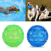 For Pet Dogs Indestructible Soft Rubber Floating Squeaky Ball Funny Chew Toys