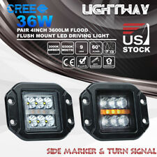 2x4Inch 36W Flush Mount CREE LED Work Light Pods SUV UTE Bumper Reverse Lamps 5""