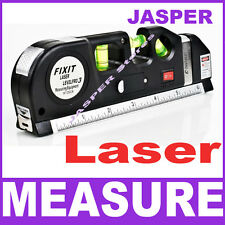 Laser Level Horizon Vertical Measure Tape 8FT Aligner Standard Metric Ruler