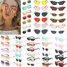Vintage Women Kaleidoscope Oversize Square Cat Eye Gradient Sunglasses UV400