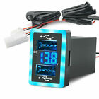 MICTUNING+6.4A+Dual+USB+QC3.0+Quick+Charger+LED+Voltmeter+for+Toyota+1.3+x+0.9%22