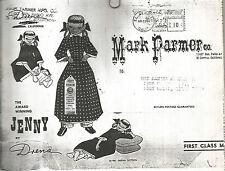 "Vintage Pattern To Make 28"" Cloth Doll- ""Jenny""-Mark Farmer"