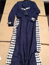 1  set (top/bottom) Navy Mariachi Costume Uniform Jacket Charro Suit Skirt