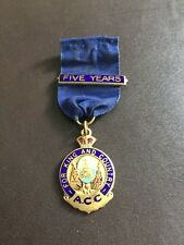 vintage For King And Country A C C Metal Enamel Badge