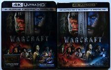 WARCRAFT 4K ULTRA HD UHD BLU RAY 2 DISC SET + SLIPCOVER SLEEVE FREE SHIPPING