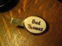 Bud Thoma$ 1960's Tie Clip - Vintage Mid Century Modern Bud Thomas Tie Clasp