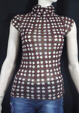 ZARA  Taille M 38 Superbe haut top tee shirt manches courtes bordeaux marron