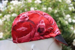 CYCLING CAP DANGEROUS WATER 100% COTTON  HANDMADE IN USA NOT FROM CHINA L,M,S