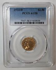 1914D - $2.50 Indian Gold Quarter Eagle - PCGS  AU58