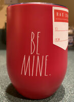 """Rae Dunn """"BE MINE"""" Valentine's Day Gift Wine Tumbler Red Insulated Travel NEW"""
