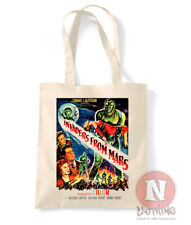 Invaders from Mars tote bag classic Sci fi movie shopping cotton enviromental