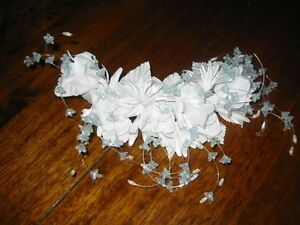 Headdress Flower Wreath Wedding ~Handmade~ Etwas Blue #31 New
