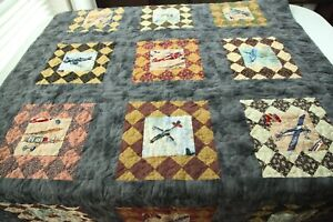 Modified Thimbleberries Vintage Stitches Finished Quilt 53 x 68 Airplane Throw