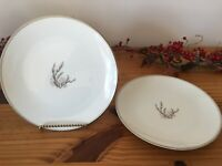 "Set of 2 NORITAKE Candice Fine China, Salad Plates, 8 1/4"", Japan"