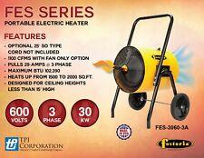Fostoria Fes-3060-3A 30Kw 600V 3Ph Portable Electric Salamander Heater