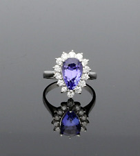 PEAR CUT TANZANITE & DIAMOND CLUSTER RING