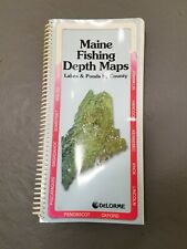 New ListingMaine Fishing Depth Maps book, Index by county by DeLorme