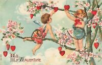 Postcard To My Valentine Embossed Glitter