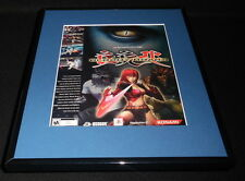 Bloody Roar 4 2003 PS2 Framed 11x14 ORIGINAL Advertisement