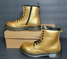 * DR MARTIN DELANEY YOUTH  SIZE 4 (WOMEN SIZE 6 )  GOLD NEW / BOX  15382710