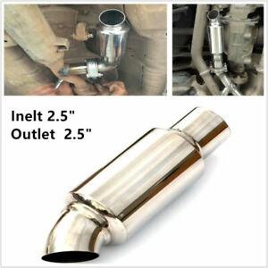 "2.5"" Inelt Outlet Car SUV Truck Stainless Steel Exhaust Muffler Resonator 89mm"