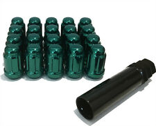 Alloy Wheel Nuts Green Tuner (20) 12x1.25 Bolts for Nissan Skyline [R30] 81-85