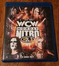 RARE THE VERY BEST OF WCW MONDAY NITRO VOL. 3 BLU-RAY DVD WWE WWF AEW NXT ECW DX