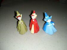 "Disney Sleeping Beauty Fairy Godmothers 1-1/2"" Plastic Figures"