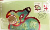 """.SCARCE 2009 UNC $1 PNC FDC """"YEAR OF THE OX"""" IN ORIGINAL PROTECTIVE SLEEVE"""