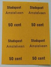 Stadspost Amstelveen 1970 - Blok van 4 Administratiezegels ongetand