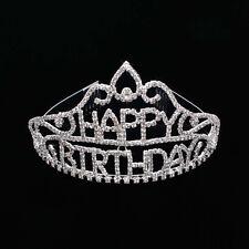 HAPPY BIRTHDAY PARTY PRINCESS CROWN TIARA HEART SHAPE HAIR COMBS HEAD BAND