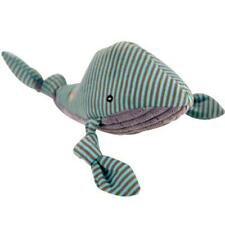 HuggleHounds Whale Knottie PLUSH DURABLE DOG TOY Puppy Play Fetch Exercise Soft