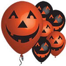 """11"""" Halloween Zucca LATTICE PALLONCINI CONFEZIONE DA 6, 3, 3 Nero Arancione"""
