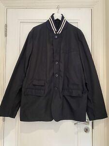 100% Authentic Men MONCLER navy Blue Blazer Jacket Size 7 /  XXL
