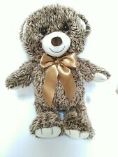 "FAO Schwarz Teddy Bear 2018 Bears That Care 18"" Chocolate Brown Tan Nursery Toy"