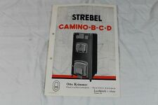 Strebel Kamine Ofen  - O. Krimmer Leutkirch - Reklame auf Papier - 1930er   /S51