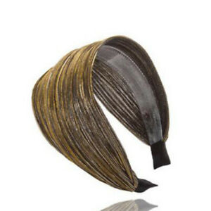 Womens Wide Velvet Twist Cross Bow Knotted Headband Hairband Hair Hoop Headwrap