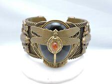 Patrice Onyx Dragonfly Frog Filigree Heavy Cuff Bracelet Retail $355!