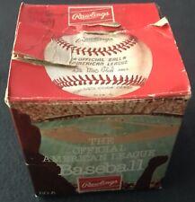vintage RAWLINGS AMERICAN LEAGUE AL 1977-82 LEE MAC PHAIL original baseball box