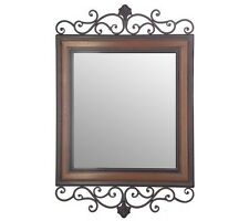 Scrollwork Design Rectangular Wall Mirror by Valerie Parr Hill