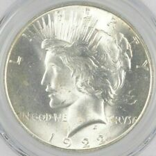 Uncirculated 1922 Peace Silver Dollar 90% BU Single - Philadelphia-  Stunning