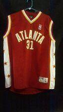 RETRO ATLANTA HAWKS #31 MEN'S RED/WHITE/YELLOW NBA ATHLETIC SPORTS JERSEYSIZE L