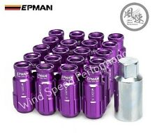 EPMAN Lightweight Aluminum Racing Wheel Lug Nuts Open End w/ key M12X1.5 PURPLE